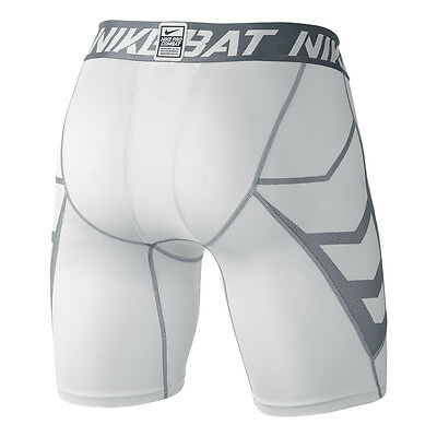 Men M XL NIKE PRO COMBAT Compression DRI-FIT WHITE BOXER BRIEF Fitness Underwear