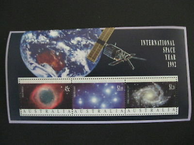 1992 Sheet X 3 Mnh International Space Year Stamp Australia More Listed