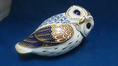 Royal Crown Derby Owl Paperweight Bone China