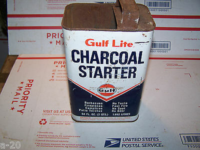 Old Gulf Oil Company Can Charcoal Lighter Can