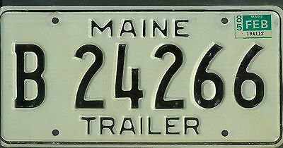 """MAINE 1985 license plate """"B 24266"""" ***NATURAL***"""
