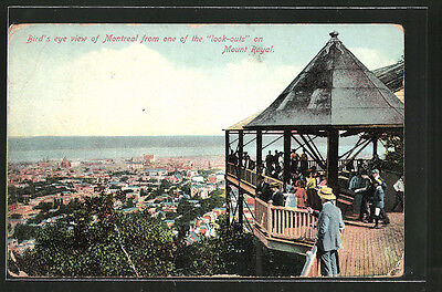 AK Montreal, Bird´s Eye view from one of the look-outs on Mount Royal 1909