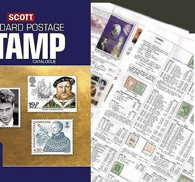 Honduras SHORT 2017 Scott Catalogue Pages 845-870