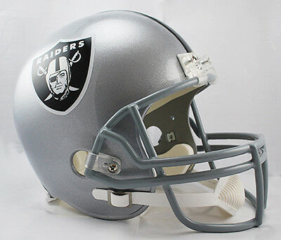 Oakland Raiders Riddell Throwback Full Size 1:1 Replica Helm,NFL Football