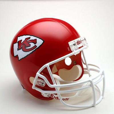 Kansas City Chiefs Riddell Deluxe Full Size 1:1 Replica Helm,NFL Football,NEU