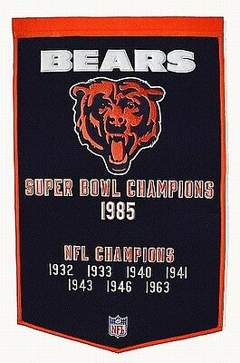 Chicago Bears Fan Wall Banner,90 x 60 cm !!,NFL Football,Neu,Hammerteil