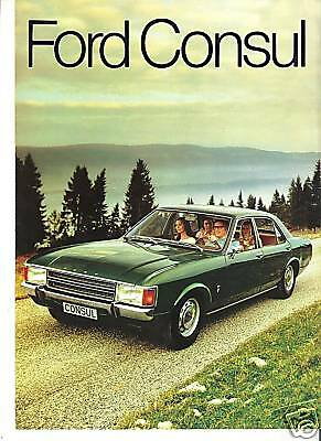 FORD CONSUL 1972 catalogue brochure prospekt folder dépliant catalog prospectus