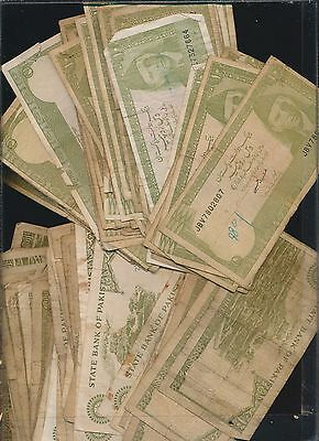 Pakistan Lot Of Low Grade Notes -10 Rupees Lot Of 50
