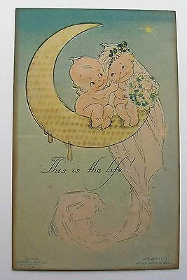 Kewpie After Rose O'Neill 1914 Klever Kard Cut Out Bride & Groom Campbell Art Co