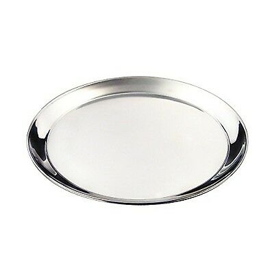 """Genware NEV-52239 Tray Stainless Steel Round 16"""" NEW - FAST DELIVERY"""