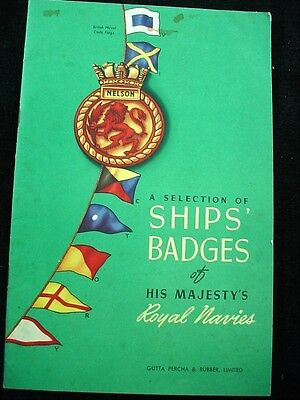 A SELECTION OF SHIPS BADGES Royal Navy Gutta Percha & Rubber 1942 WWII Military