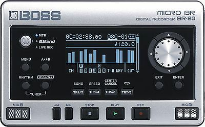 Boss Micro BR BR-80 Portable 8 Track recorder with eBand backing tracks.
