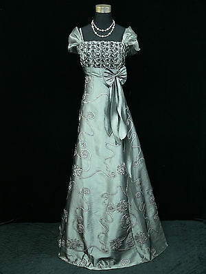 Cherlone Plus Size Grey Ballgown Wedding Evening Bridesmaid Formal Dress 22-24