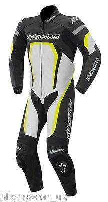 Alpinestars MOTEGI 1 One Piece Suit White/Black/FLUO Leather Motorcycle Last Few