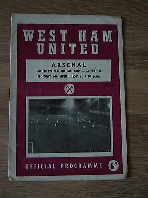 1959 Southern Floodlight Cup - Semi-Final : West Ham United V Arsenal