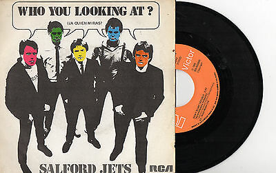 "SALFORD JETS - Who You Looking At? / Don't Start Trouble, SG 7"" SPAIN 1980 PUNK"