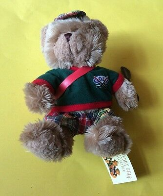 """SOFT TOY - THE TEDDY BEAR COLLECTION - """"GORDON THE GOLFER"""". Approx 7.5"""" TALL"""