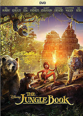 The Jungle Book (DVD, 2016) Bill Murray, Ben Kingsley (Brand New, Watched Once)