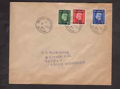 Great Britain Agencies Morocco 1937 FDC 1st day cover KGVI Definitives Tetuan