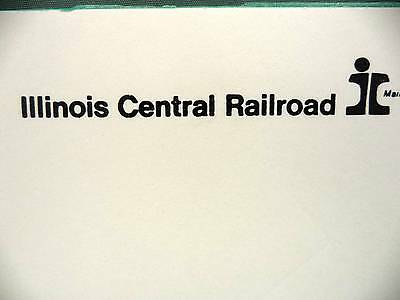 Illinois Central Railroad Note Scratch Pad Railway Advertising