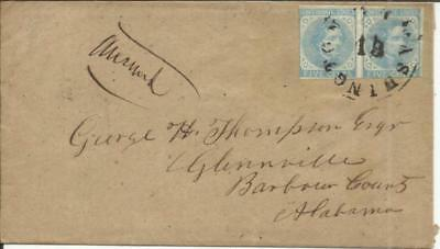 Confederate States of America Sc#7(pair) WASHINGTON(Wilkes County)GEORGIA