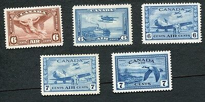 Canada #C5-C9 Air Mail Collection MH