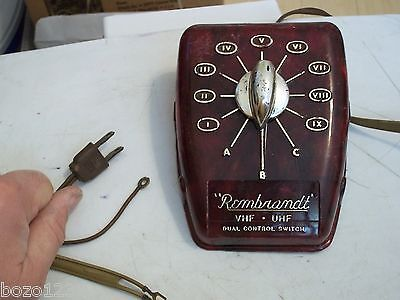 Vintage Rembrandt Vhf Uhf Dual Control Switch Antique Television Antenna