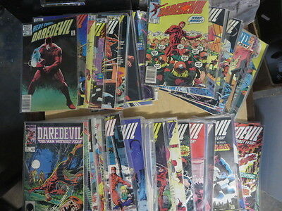 DAREDEVIL Lot of 104 Marvel Comics 1976,1983-1997 F-VF/+ Punisher Kingpin Page