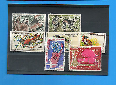 Malagasy Republic.seven Airpost Stamps .fine Used.(D)