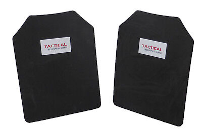 Tactical Scorpion Body Armor Plate Trauma Pads Backers Pair 10mm 11x14 For AR500