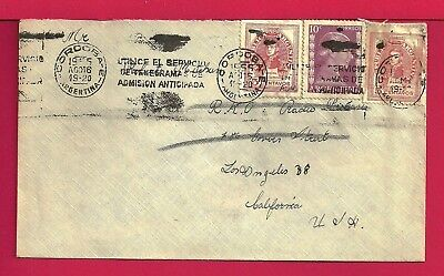 1955 Argentina Tri Franked Fan Mail Cover To Actor Robert Mitchum Usa