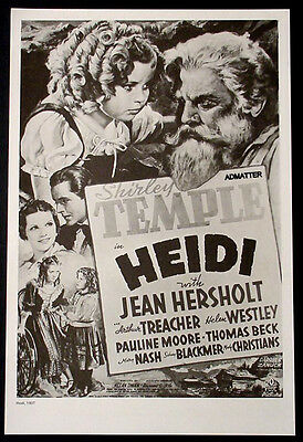 Heidi Shirley Temple + Stanwyck & Robert Taylor Movie Ad Poster Of 1937 Films
