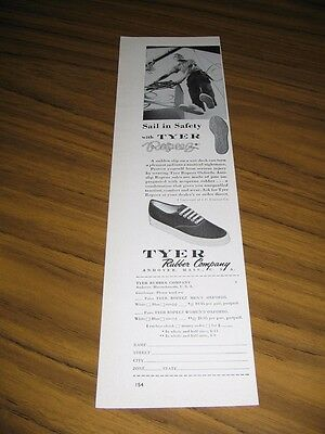 1958 Print Ad Tyer Rubber Co. Ropeez Boat Shoes Andover,MA