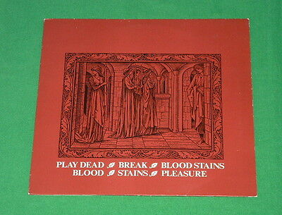 "PLAY DEAD Break Bloodstains EP GOTH ROCK INDUSTRIAL 12"" 1984"