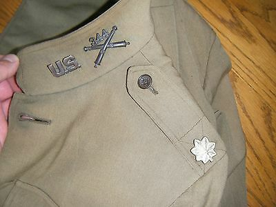 Id'ed 344th Field Artillery Officers Tunic 90th Division