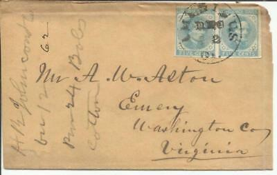Confederate States of America Sc#7-nice margins(pair) AMERICUS(Sumter