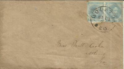 Confederate States of America Sc#7(pair) D.P.O.-HOUSTON(Heard County)GEORGIA