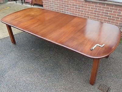 Large Victorian antique solid mahogany 3 leaf extending dining table seats 12