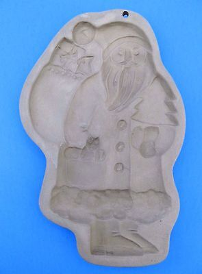 Brown Bag Christmas Santa Cookie Mold Stamp