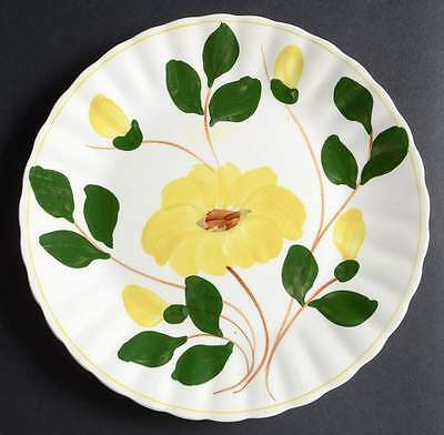 Blue Ridge Southern Pottery ROCK ROSE YELLOW Luncheon Plate 10123431