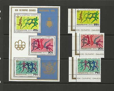 Penryn Cook Islands  N.z. 1976 Olympic Games Montreal (Mint Set) Mh