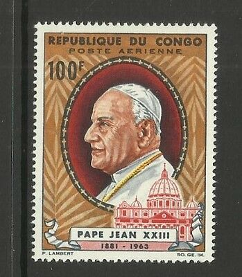 Congo Brazzaville ~ 1965 Pope John Paul Xxiii (Mint Mh) Air Mail