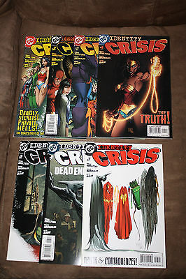 DC Identity Crisis (2004) Complete Series Lot Issues #1-7 Meltzer Morales