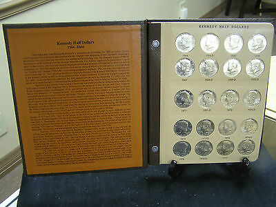 John F.Kennedy half dollar complete Gem BU set 1964-2016 In Dansco Album
