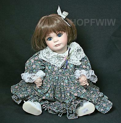 Vintage OOAK Hand-Made Hand-Painted Porcelain Doll Signed By Artist 1995