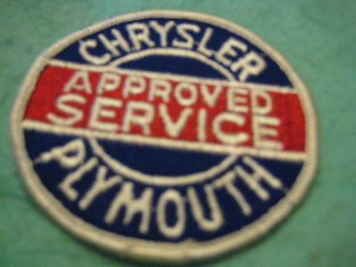 "Vintage Chrysler Plymouth Approved Service   Patch Sew On 3"" X 3"""