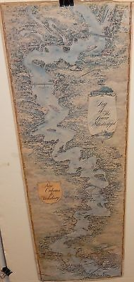 New Orleans To Vicksburg Log Of The Lower Mississippi Old Color Print Map