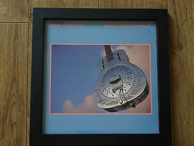 Dire Straits - Brothers In Arms: Framed Original Classic Lp Album Cover / Sleeve