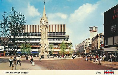 The Clock Tower Leicester 1985 Postcard