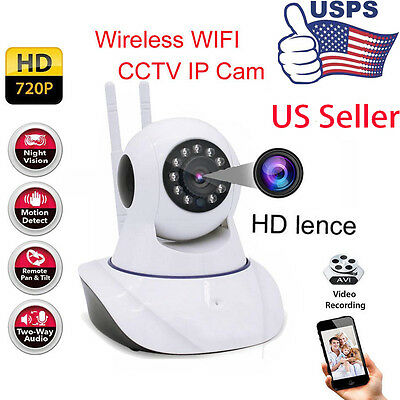 Wireless Two-Way Audio Chatting Baby WiFi IP Pan Security Camera Night Vision US